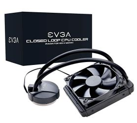 EVGA CLC 120mm All-In-One CPU Liquid Cooler, 1x 120mm Fan, Intel, 5 YR Warranty, 400-HY-CL11-V1 Intel 115X Bracket CPU Liquid Cooler Full Height